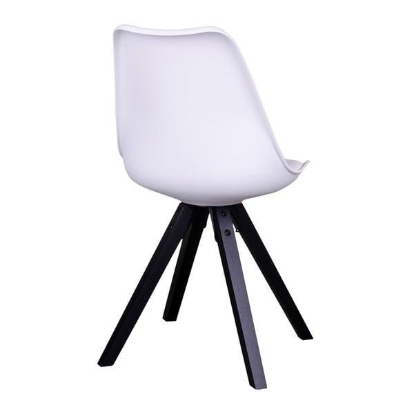Sada 2 bílých židlí s černými nohami House Nordic Bergen