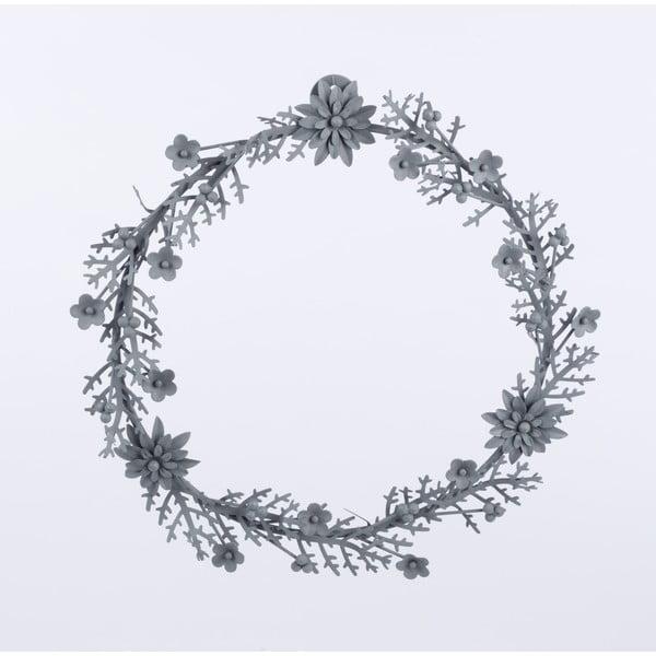 Kovový věnec Wreath, šedý