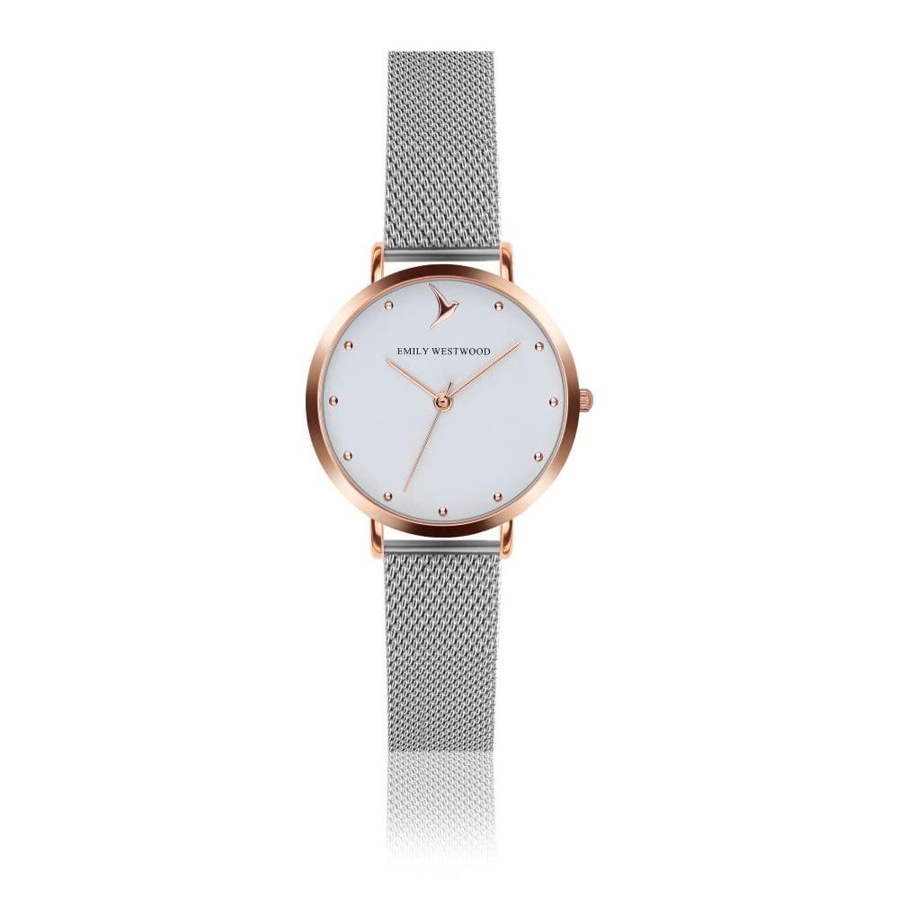Dámské hodinky s páskem z nerezové oceli ve stříbrné barvě Emily Westwood  Birdie 41683b7402