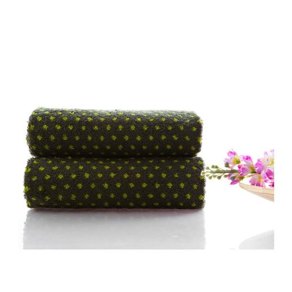 Set dvou ručníků Naila 90x50 cm, zelený