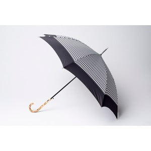 Deštník Houndstooth, černý