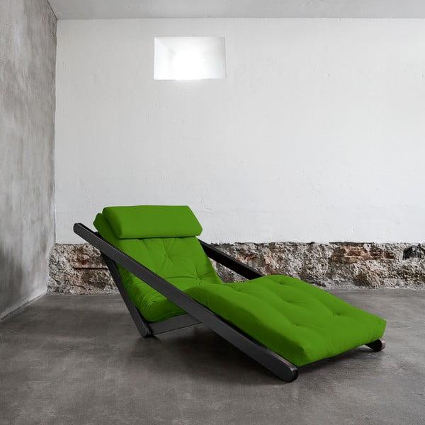 Fotoliu Karup Figo Wenge/Lime, 70 cm
