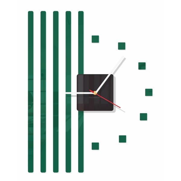 Hodiny z plexiskla Points Dark Green