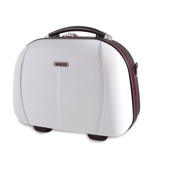 Bílý cestovní kosmetický kufřík Tempo