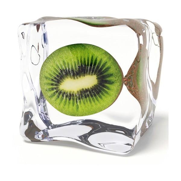 Skleněný obraz Iced Kiwi, 20x20 cm