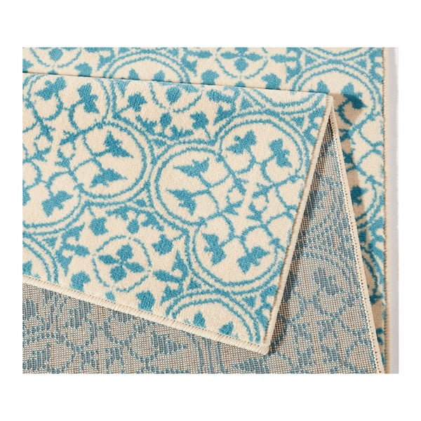 Modrý koberec Hanse Home Gloria Pattern, 80x200cm