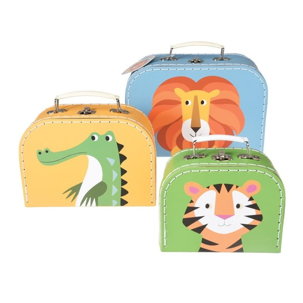Set 3 valize pentru copii Rex London Colourful Creatures