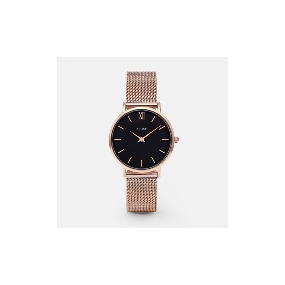 b9b14e5b4b2 Dámské hodinky v barvě růžového zlata Cluse Minuit