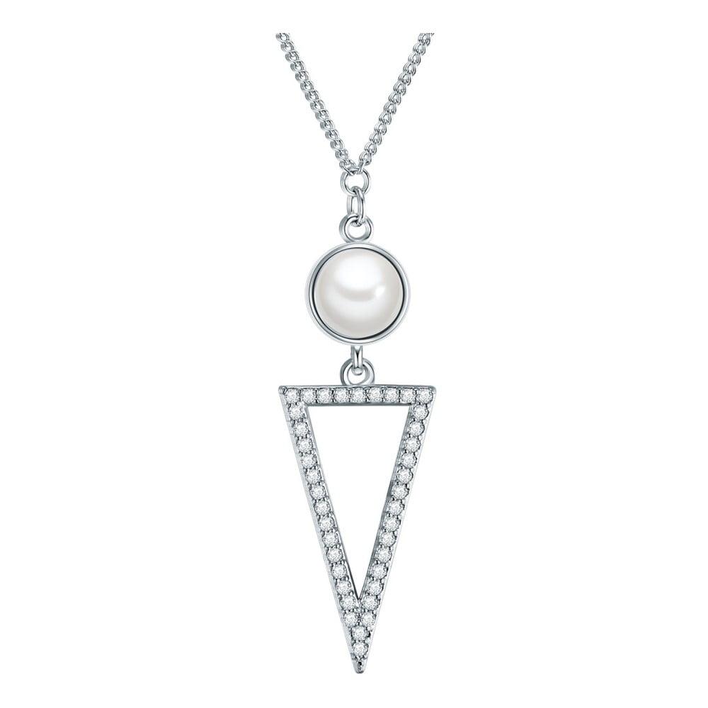 Náhrdelník s přívěskem Pearls of London Zoia s perlou a zirkony,70cm