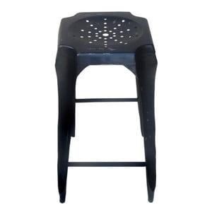 Barová kovová stolička Tabouret Black