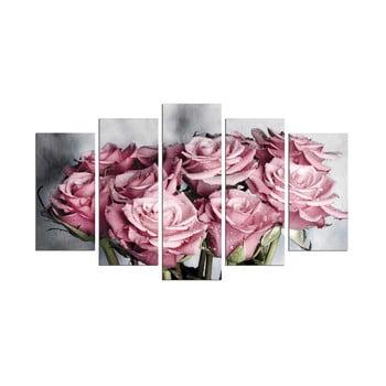 Tablou din mai multe piese Bouquet, 110 x 60 cm de la Unknown