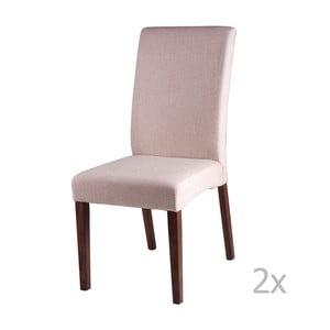 Sada 2 béžových  jídelních židlí sømcasa Elsa
