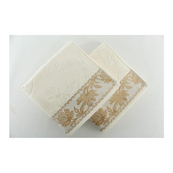 Sada 2 ručníků Asu Cream, 50x90 cm