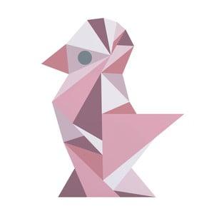 Růžová nástěnná samolepka Sebra Geometric Girl
