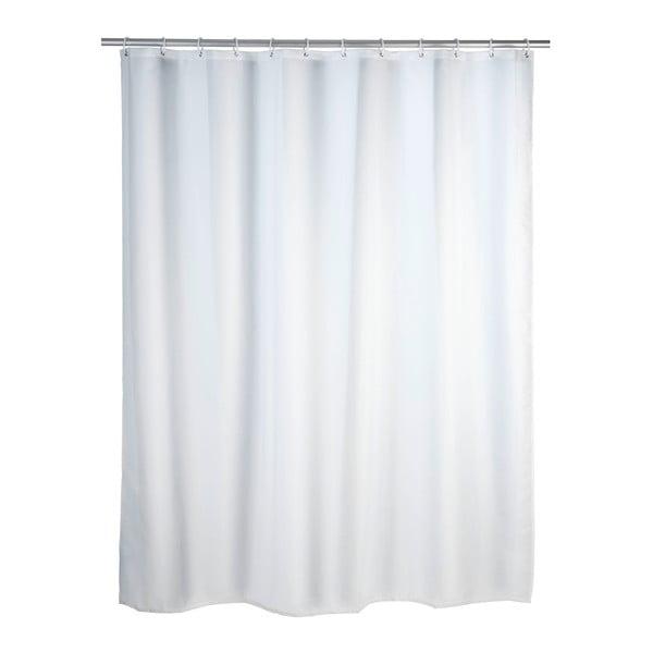 Bílý sprchový závěs s protiplísňovou povrchovou úpravou Wenko, 180x200cm