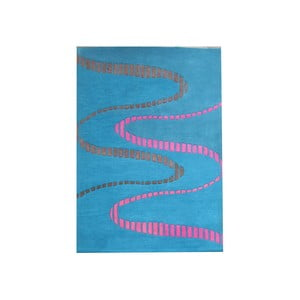 Koberec Wool Blue, 153x244 cm