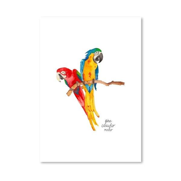 Autorský plakát Birds, 30x42 cm