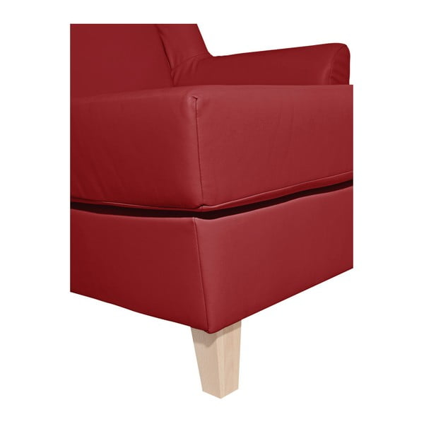 Červená koženková lenoška Max Winzer Judith