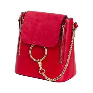 Červená kabelka z pravé kůže Andrea Cardone Ambra
