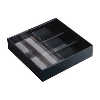 Suport sertar pentru tacâmuri YAMAZAKI Tower, negru de la YAMAZAKI