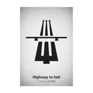 Plakát Highway to hell, 29,7x42 cm, limitovaná edice
