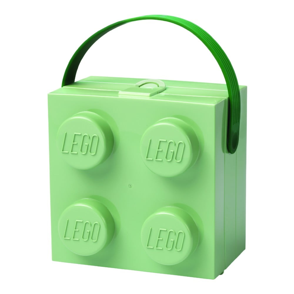 Světle zelený úložný box s rukojetí LEGO®
