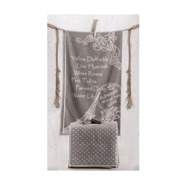 Sada 2 ručníků Bouguet Paris Stone, 50x90 cm a 90x145 cm