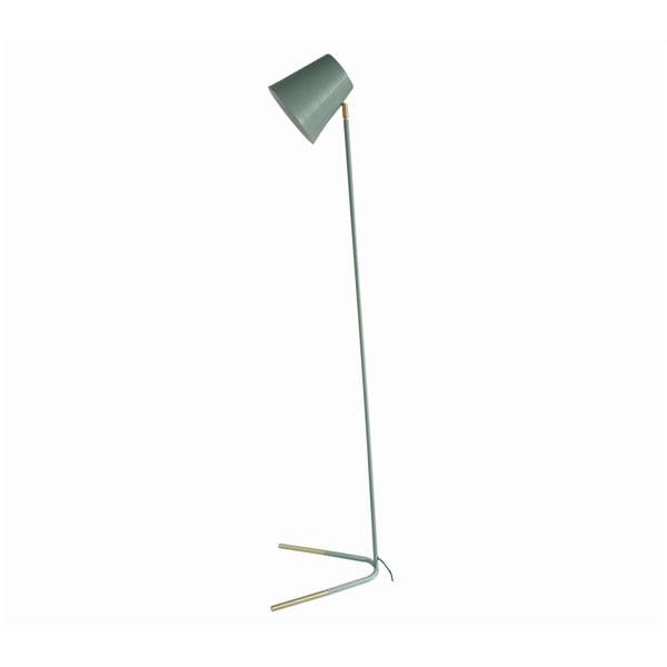 Zelená volně stojící lampa s detaily ve zlaté barvě Leitmotiv Noble