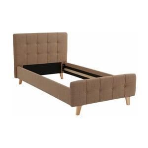 Hnědá  jednolůžková postel Støraa Limbo, 100x200cm