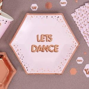 Sada 8 růžových tácků Neviti Glitz & Glamour Dance