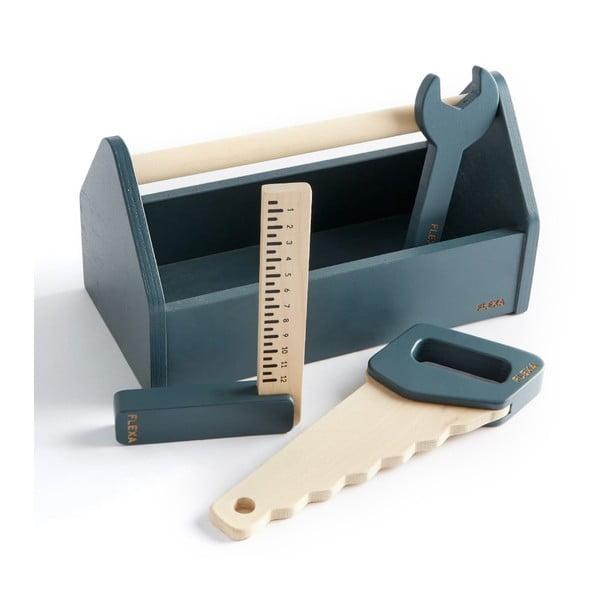 Detská sada dreveného náradia Flexa Toys Toolbox