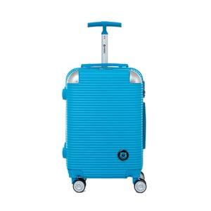Tyrkysově modrý cestovní kufr na kolečkách s kódovým zámkem Teddy Bear Larisa, 44 l