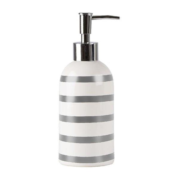 Dávkovač mýdla Galzone, bílo-stříbrný