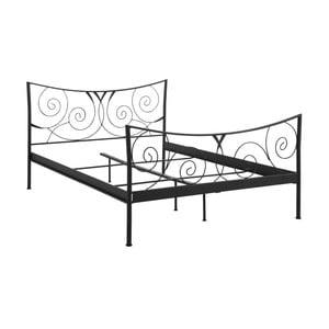 Černá dvoulůžková kovová postel Støraa Isabelle, 140x200cm