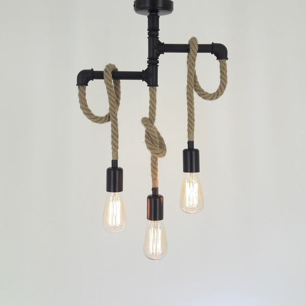 Stropní svítidlo se 3 žárovkami Borulu Halat