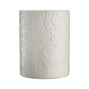 Bílá kameninová nádoba na kuchyňské náčiní Mason Cash In the Forest, ⌀ 11,5 cm