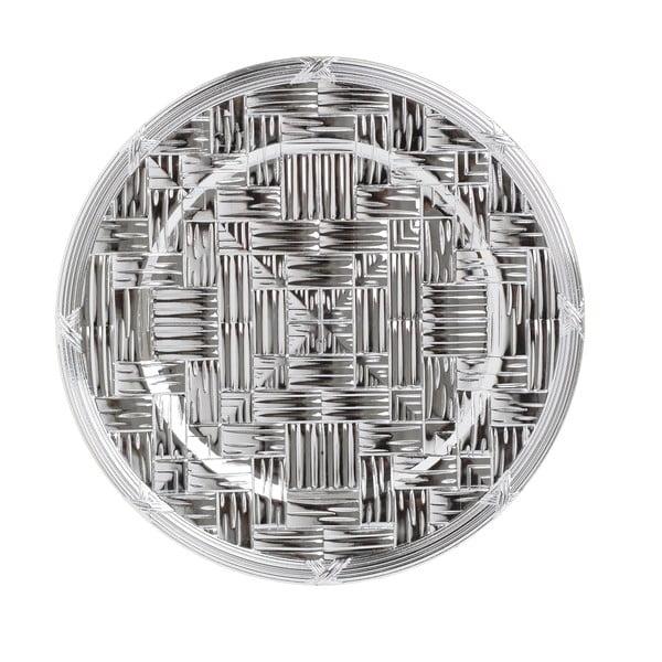 Plastový talíř ve stříbrné barvě InArt, ⌀36cm