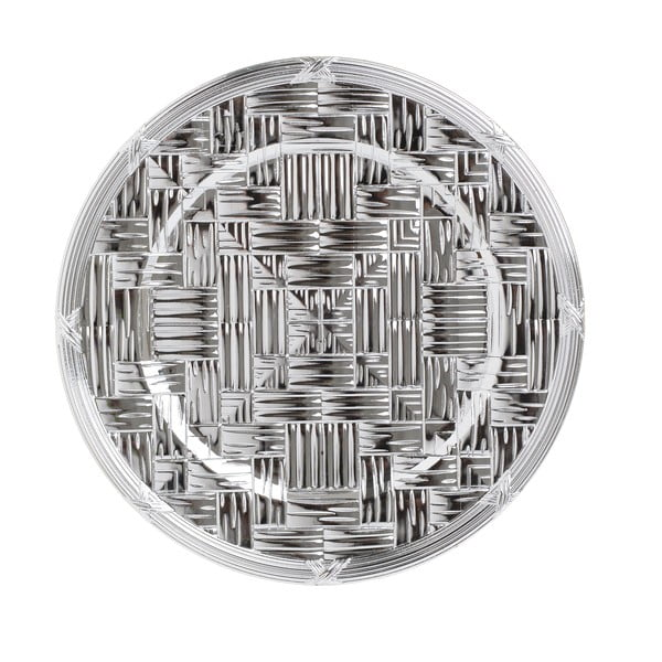 Farfurie din plastic InArt, ⌀36cm, argintiu