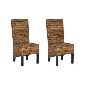 Sada 2 ratanových židlí Pembroke, světlá