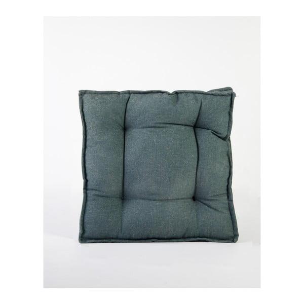 Zelený polštář s příměsí lnu Surdic Square, 37 x 37 cm