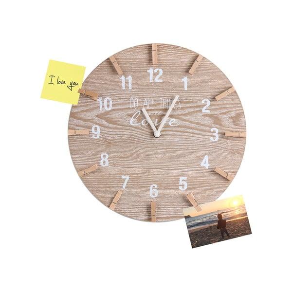 Dřevěné nástěnné hodiny Maiko Remember