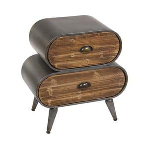 Noční stolek z jedlového dřeva a kovu Santiago Pons London Industrial