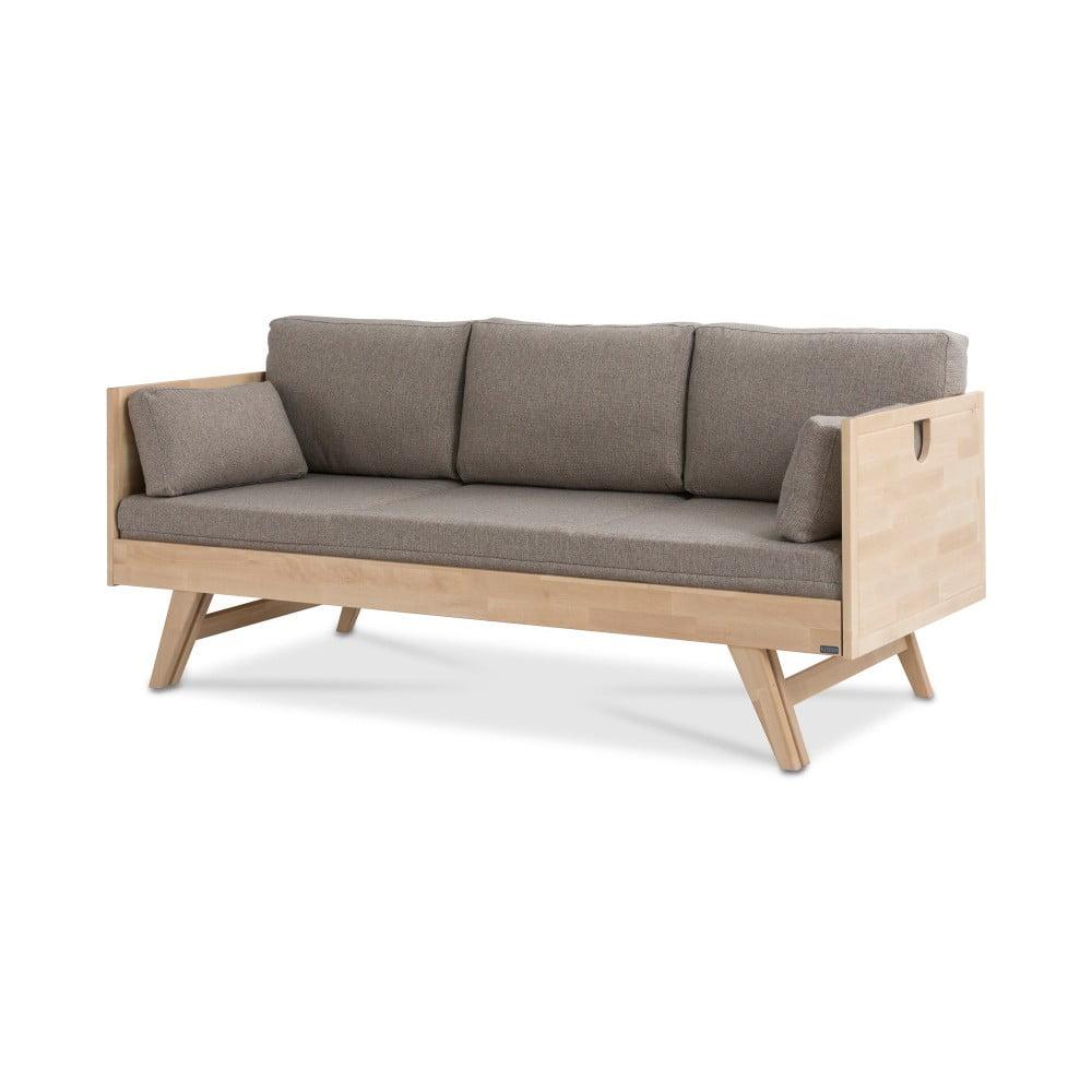 Ručně vyráběná konstrukce rozkládací pohovky z masivního březového dřeva Kiteen Notte, 190 x 75 cm