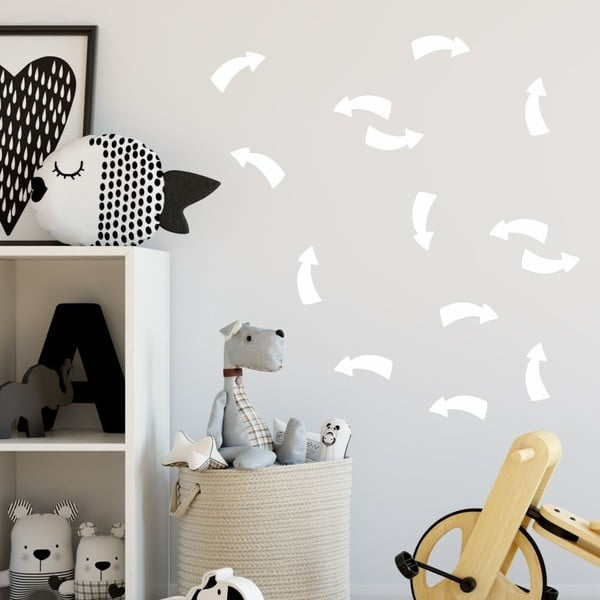 Point fehér öntapadós falmatrica szett - North Carolina Scandinavian Home Decors