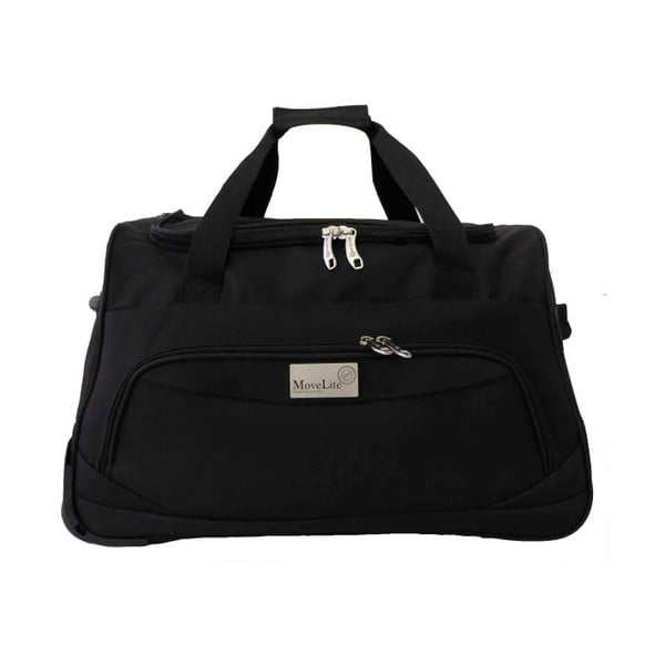 Černá cestovní taška na kolečkách Hero Roulette,65l