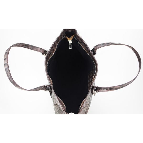 Kožená kabelka Vaso Bassa Taupe