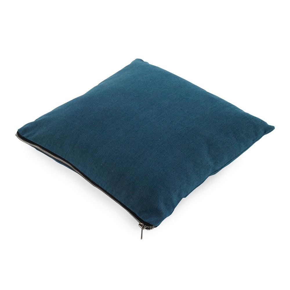 Modrý polštář Geese Soft, 45 x 45 cm