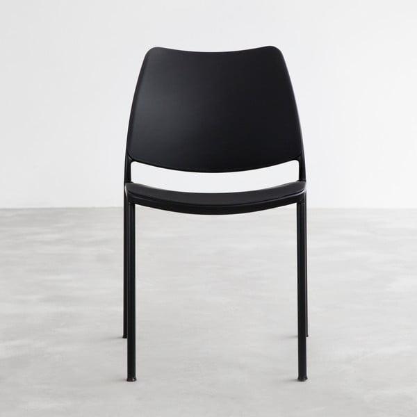 Černá židle s černými nohami Stua Gas