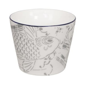 Cană din porțelan Tokyo Design Studio Shiki, 180 ml, gri-alb