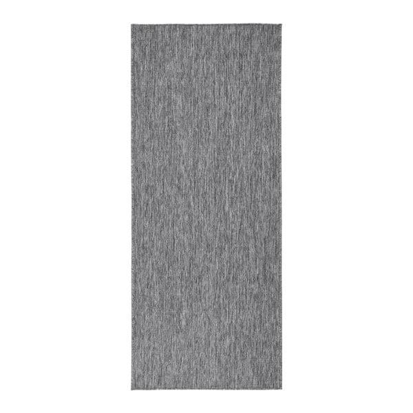 Sivý obojstranný koberec Bougari Miami, 80 x 350 cm